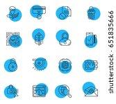vector illustration of 16... | Shutterstock .eps vector #651835666