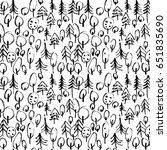 minimalistic seamless pattern... | Shutterstock .eps vector #651835690