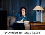 attractive sweet woman sitting...   Shutterstock . vector #651843196