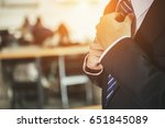 businessman black suit ... | Shutterstock . vector #651845089