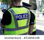 police officer on duty on a... | Shutterstock . vector #651846148