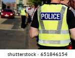police officer on duty on a... | Shutterstock . vector #651846154