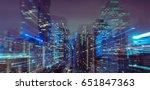 Zoom Burst And Blur City