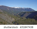 forested valley of the river...   Shutterstock . vector #651847438