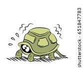 scared turtle | Shutterstock .eps vector #651847783