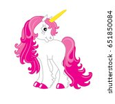 vector cute unicorn with pink