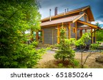 house. wooden house. cottage.... | Shutterstock . vector #651850264