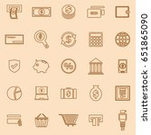 payment line color icons on... | Shutterstock .eps vector #651865090