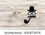 happy father day sticker ...   Shutterstock . vector #651871474
