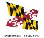 flag of maryland  us state... | Shutterstock . vector #651875443