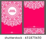 wedding invitation or card with ... | Shutterstock .eps vector #651875650