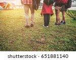 group of traveler walking to... | Shutterstock . vector #651881140
