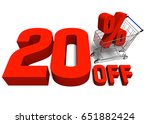20 percent off discount with a... | Shutterstock . vector #651882424