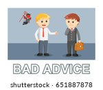 businessman bad advice photo... | Shutterstock .eps vector #651887878