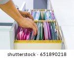man hands search files document ... | Shutterstock . vector #651890218