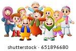 vector illustration of happy... | Shutterstock .eps vector #651896680