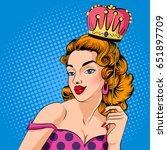 vector design of pop art style... | Shutterstock .eps vector #651897709