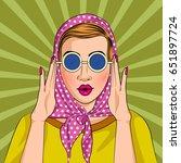 vector design of pop art style... | Shutterstock .eps vector #651897724