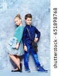 kid's fashion. two modern... | Shutterstock . vector #651898768