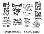 tea is always a good idea. tea... | Shutterstock .eps vector #651921880