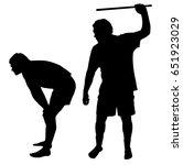 silhouette of a man applying... | Shutterstock . vector #651923029