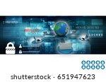 3d rendering computer network | Shutterstock . vector #651947623