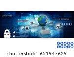 3d rendering computer network | Shutterstock . vector #651947629