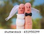 fingers art of a happy couple.... | Shutterstock . vector #651950299