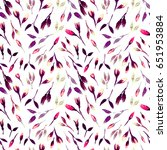watercolor bud repeat pattern.... | Shutterstock . vector #651953884