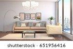 interior living room. 3d...   Shutterstock . vector #651956416