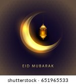 eid mubarak greeting card... | Shutterstock .eps vector #651965533