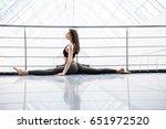 beautiful yoga woman practice... | Shutterstock . vector #651972520
