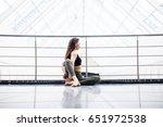 beautiful yoga woman practice... | Shutterstock . vector #651972538
