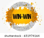 win win   winning solution word ... | Shutterstock .eps vector #651974164