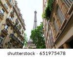 eiffel tower in summer  paris... | Shutterstock . vector #651975478