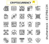 cryptocurrency outline icon...
