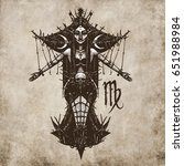 virgo horoscope sign ... | Shutterstock . vector #651988984