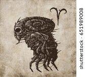 aries horoscope sign ... | Shutterstock . vector #651989008