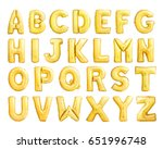 full alphabet of golden... | Shutterstock . vector #651996748