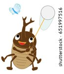 the bug collecting of the... | Shutterstock .eps vector #651997516