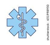 blue caduceus medical shield | Shutterstock .eps vector #651998950