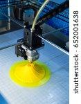 3d printer three dimensional... | Shutterstock . vector #652001638