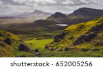 landscape view of quiraing... | Shutterstock . vector #652005256