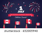 1st of july. happy canada day... | Shutterstock .eps vector #652005940