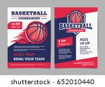 basketball tournament posters ... | Shutterstock .eps vector #652010440