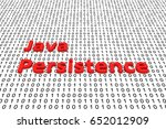 Java persistence in the form of binary code, 3D illustration