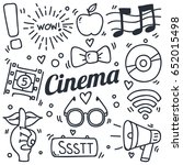 movie and celebrity related... | Shutterstock .eps vector #652015498