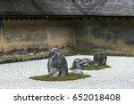 Zen Rock Garden In Ryoan Ji...