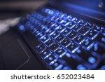 hi tech computer keyboard... | Shutterstock . vector #652023484