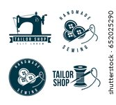 set of tailor labels emblems.... | Shutterstock .eps vector #652025290
